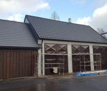 Stavební úpravy garáží Prášily